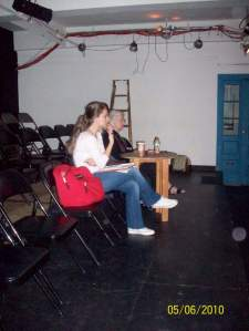 Maltepe and Sills during the rehearsals of The Tao of Chuang Chou, 2010